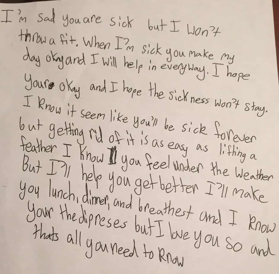Love Note Daughter